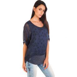 Bluzki damskie: Koszulka w kolorze granatowym
