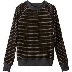 Welurowa bluza w paski. Szare bluzy damskie marki La Redoute Collections, m, z bawełny, z kapturem. Za 95,72 zł.