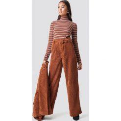 Gestuz Spodnie Roy - Brown. Zielone spodnie z wysokim stanem marki Emilie Briting x NA-KD, l. Za 566,95 zł.