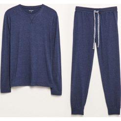 Piżama dwuczęściowa ze spodniami - Niebieski. Niebieskie piżamy męskie marki Reserved, l. Za 99,99 zł.