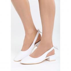 Białe Sandały Way Of Love. Białe sandały damskie na słupku marki Born2be, z materiału, na wysokim obcasie. Za 69,99 zł.