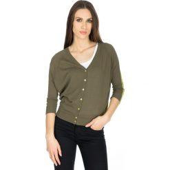 Swetry damskie: Kardigan w kolorze zielonym
