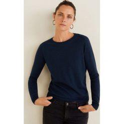Mango - Sweter Lucca. Szare swetry klasyczne damskie Mango, l, z bawełny, z okrągłym kołnierzem. Za 69,90 zł.