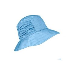 Kapelusz TREK 500 damski dwustronny. Niebieskie kapelusze damskie marki FORCLAZ, z bawełny. W wyprzedaży za 29,99 zł.