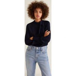 Mango - Bluzka Flax2. Białe bluzki nietoperze marki Mango, l, z materiału, eleganckie, z krótkim rękawem. Za 159,90 zł.