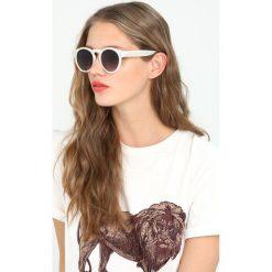Okulary przeciwsłoneczne damskie aviatory: Komono CLEMENT Okulary przeciwsłoneczne milky white