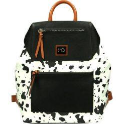 Torebki i plecaki damskie: Nobo Plecak damski E3460-C000 biało-czarny