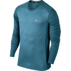 Koszulka do biegania męska NIKE DRY MILER RUNNING TOP LONG SLEEVE / 833593-407 - MILER RUNNING TOP LONG SLEEVE. Szare koszulki sportowe męskie marki Nike, m. Za 111,00 zł.