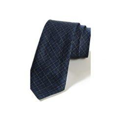Krawat męski TARIFA len. Niebieskie krawaty męskie HisOutfit, ze lnu. Za 129,00 zł.
