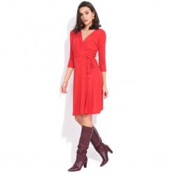 Fille Du Couturier Sukienka Damska Estelle 38 Czerwony. Czerwone sukienki z falbanami Fille Du Couturier. Za 229,00 zł.