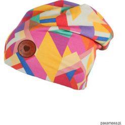 Czapka Be Bright. Różowe czapki zimowe damskie Pakamera, w kolorowe wzory. Za 63,00 zł.