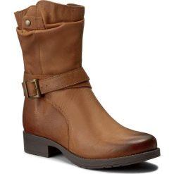 Botki LASOCKI - WI16-ALBA-01 Camel. Brązowe buty zimowe damskie Lasocki, z nubiku, na obcasie. Za 229,99 zł.