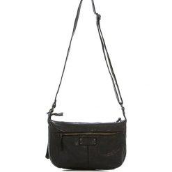 Torebki klasyczne damskie: Skórzana torebka w kolorze czarnym – 26 x 21 x 9 cm