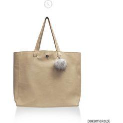 Duża Torba LATTE - ekoskóra, shopper XL vegan. Brązowe shopper bag damskie Pakamera, duże. Za 189,00 zł.