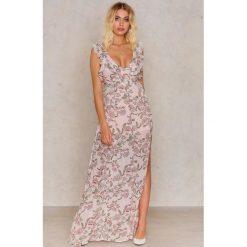 Sukienki hiszpanki: For Love & Lemons Sukienka kwiatowa Bee Balm – Pink,Multicolor