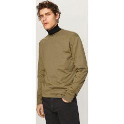 Bluzy męskie: Gładka bluza basic - Zielony