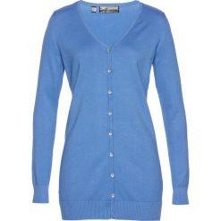 Długi sweter rozpinany bonprix niebieski. Szare kardigany damskie marki Mohito, l. Za 49,99 zł.