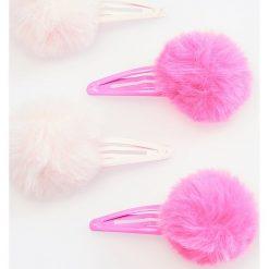 Spinki do włosów z pomponami 4 pack - Różowy. Czerwone ozdoby do włosów Reserved. Za 12,99 zł.