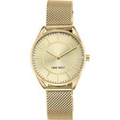 Zegarek Nine West Damski NW/1922CHGB Fashion Mesh złoty. Żółte zegarki damskie Nine West, złote. Za 311,70 zł.