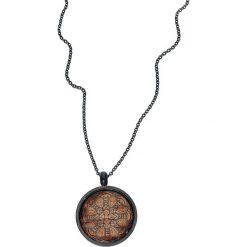 Naszyjniki damskie: Wildcat Wood Mandala Naszyjnik brązowy