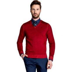 Sweter MARTINO SWTS000094. Czerwone swetry klasyczne męskie Giacomo Conti, na lato, m, z wełny. Za 229,00 zł.