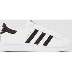Trampki superstar J. Szare buty sportowe dziewczęce marki adidas Originals, z materiału. Za 377,96 zł.