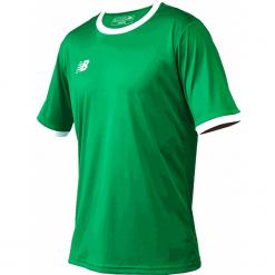 Koszulka treningowa - EMT6112JGN. Czerwone koszulki do piłki nożnej męskie marki New Balance, na jesień, m, z materiału. Za 89,99 zł.