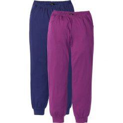 Piżamy damskie: Spodnie piżamowe (2 pary) bonprix kobaltowy + lila