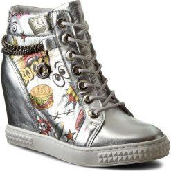Sneakersy CARINII - B3028/F J41-000-000-B88. Szare sneakersy damskie Carinii, z materiału. W wyprzedaży za 249,00 zł.