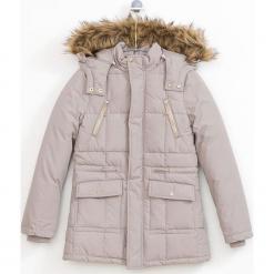 Kurtka w kolorze beżowym. Brązowe kurtki dziewczęce zimowe marki Reserved, l, z kapturem. W wyprzedaży za 152,95 zł.