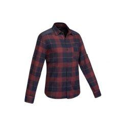 Koszula trekkingowa TRAVEL 100 warm męska. Niebieskie koszule męskie marki FORCLAZ, m, z bawełny. Za 79,99 zł.