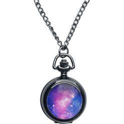 Mysterium® Galaxy Pocket Watch Zegarek - Naszyjnik czarny. Czarne naszyjniki damskie marki Mohito. Za 62,90 zł.