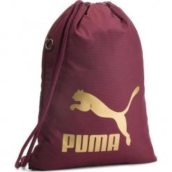 Plecak PUMA - Originals Gym Sack 074812 11 Fig/Gold. Czerwone plecaki męskie Puma, z materiału. Za 79,00 zł.
