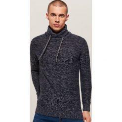 Melanżowy sweter - Granatowy. Czarne swetry klasyczne męskie marki KIPSTA, z poliesteru, do piłki nożnej. Za 99,99 zł.
