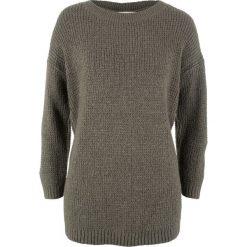 Swetry damskie: Sweter z rękawami 7/8, z kolekcji Maite Kelly bonprix ciemnooliwkowo-żółty kukurydziany