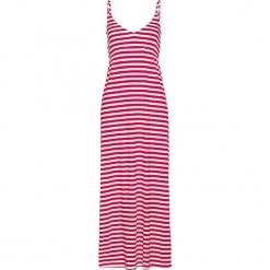 Sukienka shirtowa, długa bonprix czerwień granatu - biały. Czerwone długie sukienki bonprix, z długim rękawem. Za 109,99 zł.