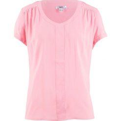 Tuniki damskie: Tunika koszulowa, krótki rękaw bonprix jasnoróżowy pudrowy