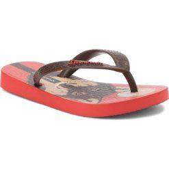 Japonki IPANEMA - Classic VI Kids 82304 Red/Brown 24524. Brązowe klapki chłopięce marki Ipanema, z tworzywa sztucznego. Za 54,99 zł.