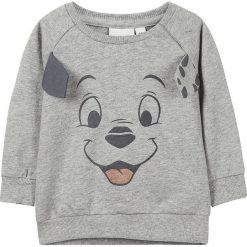 """Bluza """"101D"""" w kolorze szarym. Szare bluzy niemowlęce name it girls, z aplikacjami, z bawełny. W wyprzedaży za 42,95 zł."""