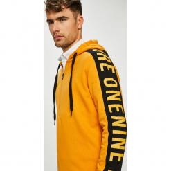 Jack & Jones - Bluza. Pomarańczowe bluzy męskie rozpinane marki Jack & Jones, l, z nadrukiem, z bawełny, z kapturem. Za 219,90 zł.