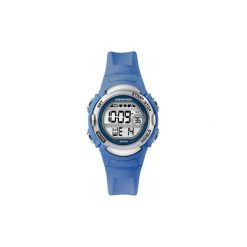Pulsometr zegarek sportowy Timex Marathon. Niebieskie zegarki damskie Timex, sztuczne. Za 129,00 zł.