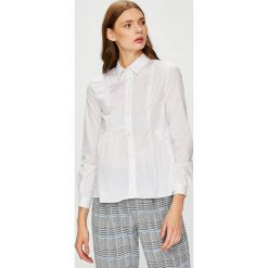 Trussardi Jeans - Koszula. Szare koszule jeansowe damskie marki Trussardi Jeans, s, casualowe, z klasycznym kołnierzykiem, z długim rękawem. W wyprzedaży za 379,90 zł.