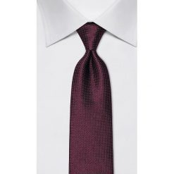 Krawaty męskie: Jedwabny krawat w kolorze ciemnofioletowym – szer. 8 cm