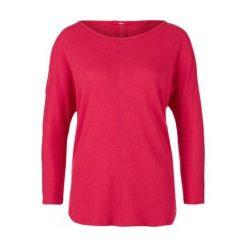 S.Oliver T-Shirt Damski 40 Czerwony. Czerwone t-shirty damskie marki S.Oliver, s, z okrągłym kołnierzem. W wyprzedaży za 69,00 zł.