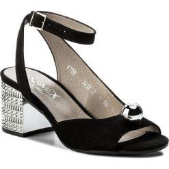 Rzymianki damskie: Sandały ANN MEX – 8758 01W Czarny