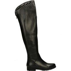 Kozaki - 284 VITE NERO. Czarne buty zimowe damskie marki Venezia, z materiału, na obcasie. Za 379,00 zł.