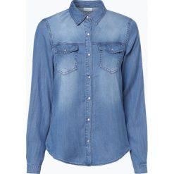 Vila - Damska koszula jeansowa – Vibista, niebieski. Niebieskie koszule jeansowe damskie marki Vila, s. Za 179,95 zł.