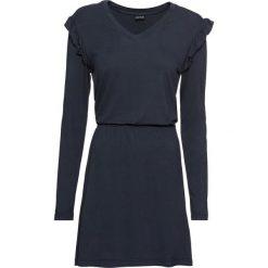 Sukienka shirtowa bonprix ciemnoniebieski. Niebieskie sukienki na komunię marki bonprix, z dżerseju. Za 49,99 zł.