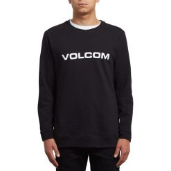 Bluza z okrągłym dekoltem. Czarne bejsbolówki męskie Volcom, l, z bawełny, z okrągłym kołnierzem. Za 214,58 zł.