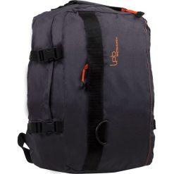 """Plecak """"Catane"""" w kolorze szarym - 31 x 42 x 18 cm. Szare plecaki męskie Les P'tites Bombes, w paski. W wyprzedaży za 86,95 zł."""